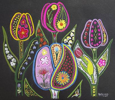 Happy Tulips in Color by George Landers