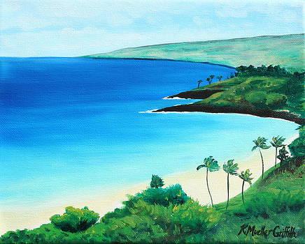 Hapuna Beach by Kristine Mueller Griffith