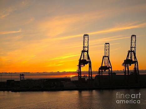 Harbor Sunset by Phyllis Kaltenbach