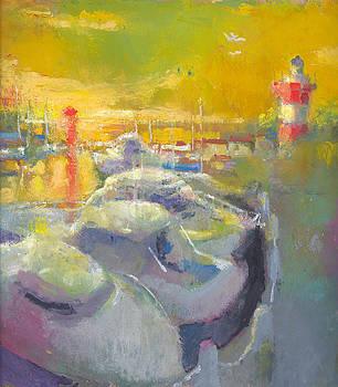 Harbor Town Light House by Daniel Bonnell