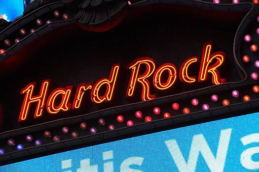 Hard Rock Sign by Thomas Fouch