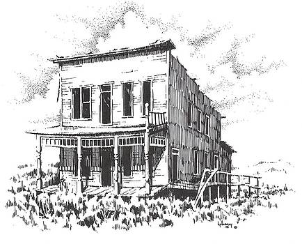 Hardesty Hotel Rochester Ghost Town Montana by Kevin Heaney