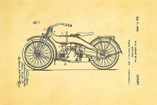 Ian Monk - Harley Davidson 1919 Twin Cylinder Model Patent Art