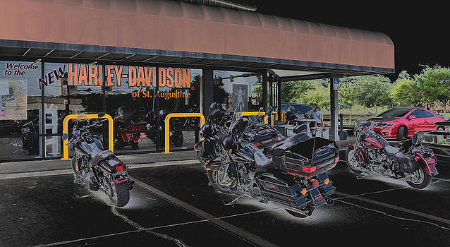 Harley Davidson Parking Only by Thomas  MacPherson Jr