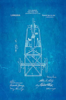 Ian Monk - Harley Davidson Three Wheel Truck Patent Art 1914 Blueprint