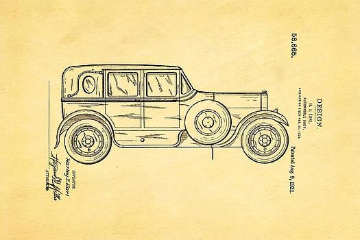Ian Monk - Harley J Earl Autombile Car Design Patent Art 1921