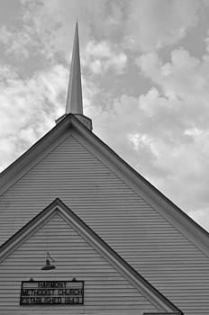 Harmony Methodist Church Black and White by Bruce Gourley