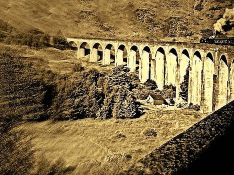 Harry Potter Viaduct  Glenfinnan Scotland by Bill Lighterness