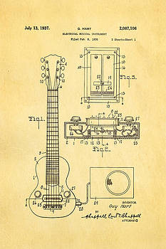 Ian Monk - Hart Gibson Electric Guitar Pickup Patent Art 1937
