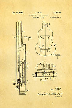 Ian Monk - Hart Gibson First Electric Guitar 2 Patent Art 1937