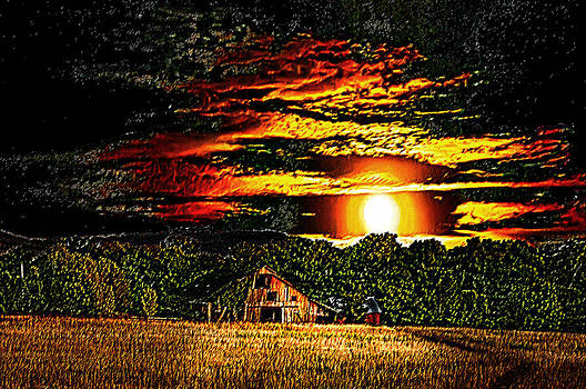 Randall Branham - Harvest Moon and Late Barn