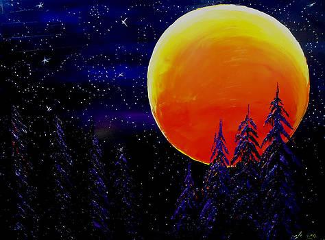 Harvest Moon by Portland Art Creations
