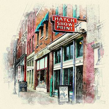 Hatch Show Print Facade Dh2o by Sandy MacGowan