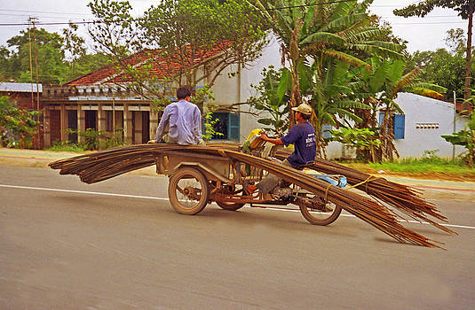 Hauling Rebar on Vietnam Hwy 7 by Rich Walter