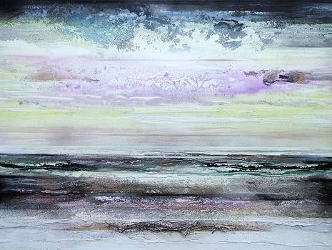 Hauxley haven beach Rhythms and textures Morning by Mike   Bell