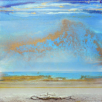 Hauxley haven Blue Rhythms and textures 1a by Mike   Bell