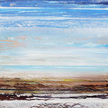 Hauxley Haven Blue Rhythms and textures 1F by Mike   Bell