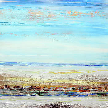 Hauxley Haven Low Tide Rhythms and Driftwood by Mike   Bell