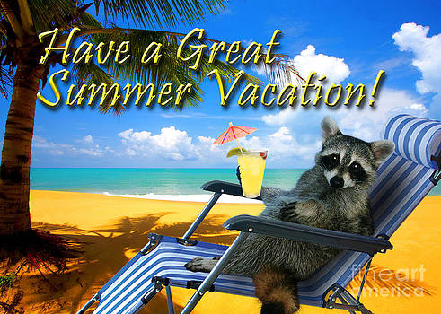 Jeanette K - Have a Great Summer Vacation Raccoon