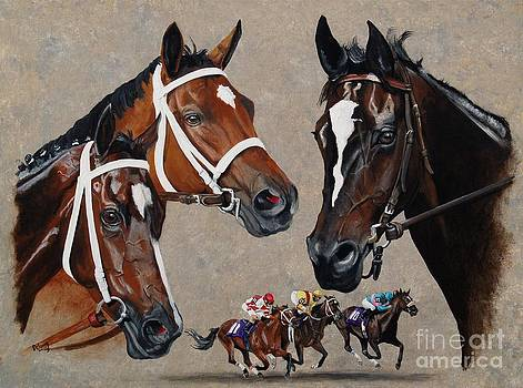 Havre De Grace  Rachel Alexandra and Zenyatta by Pat DeLong