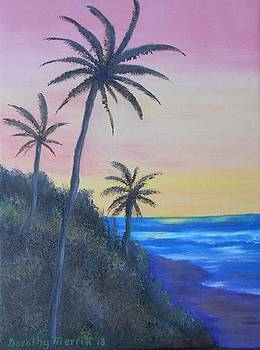 Hawaii Sunset  by Dorothy Merritt