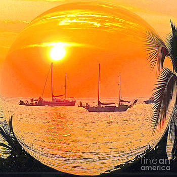 Hawaii Sunset in a Bubble by Jerome Stumphauzer