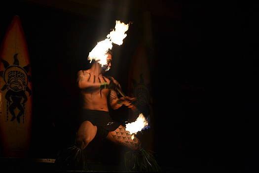Hawaiian Fire Dancer by Amanda Eberly-Kudamik