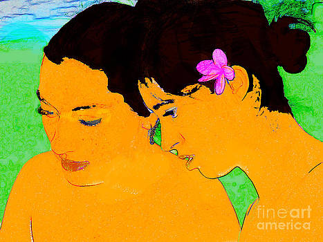Hawaiian Girls a la Gauguin by Eva Kato