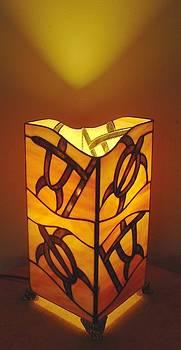 Hawaiian Petroglyph Lamp by DK Nagano