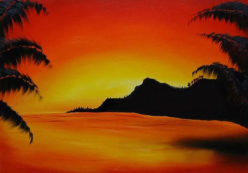 Hawaiian Sunset #3 by Portland Art Creations