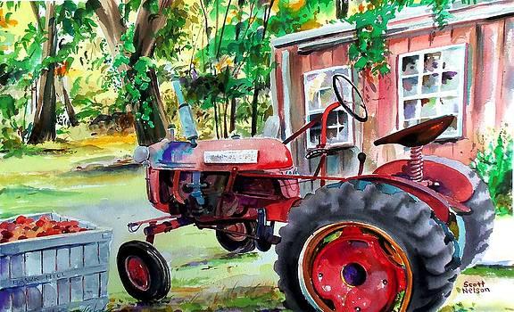 Hawk Hill Apple Tractor by Scott Nelson