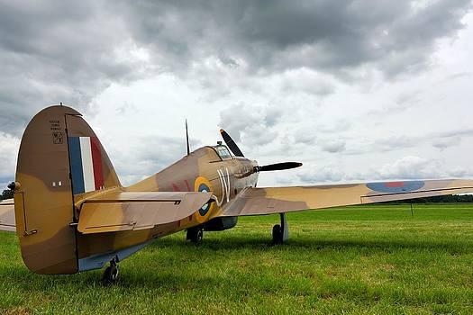 Hawker Hurricane Under a Stormy Sky by Jonathan Edwards - Corvidae Studio Photos