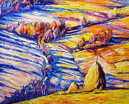 Haystacks by Keren Gorzhaltsan
