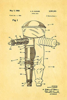 Ian Monk - Hazard Space Suit Patent Art 1968