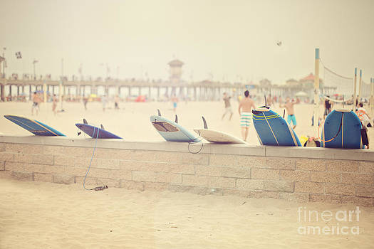Hazy Day at the Beach by Susan Gary