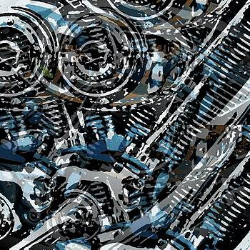 Abstract V-Twin by David Manlove