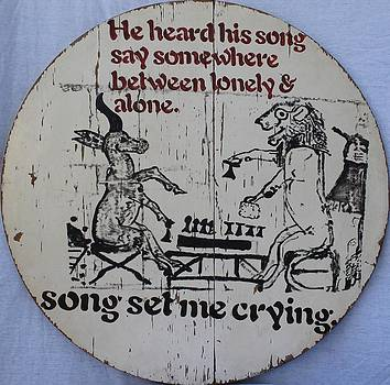 He Heard His Song Say Crying Ancient Egyptian Image of Game of Senet Between Gazelle and Lion by Cynthia Van Leeuwen