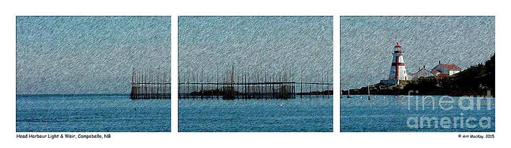 Art  MacKay - Head Harbour Light and Weir Campobello Triptych