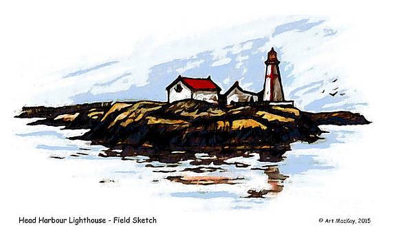 Art  MacKay - Head Harbour Lighthouse - Field Sketch