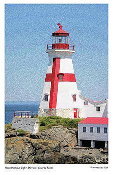 Art  MacKay - Head Harbour Lighthouse Pencil Sketch