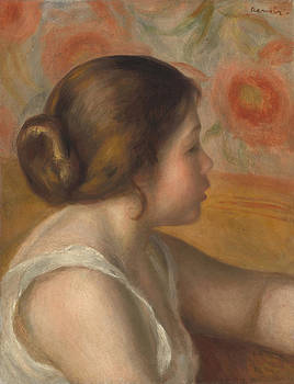 Auguste Renoir - Head Of A Young Girl