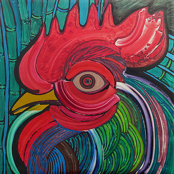 Head of Rooster to Fabelo by Jose Miguel Perez Hernandez