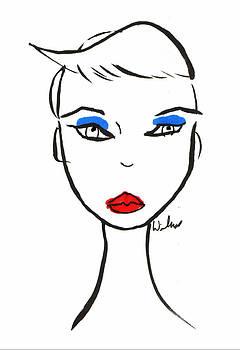 Mark Wilcox - Head with Blue Eye Shadow