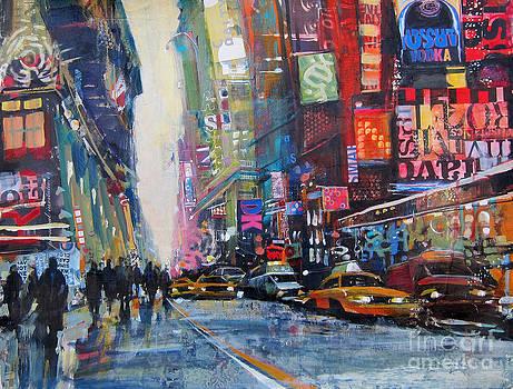 Heading Downtown NYC by Patti Mollica