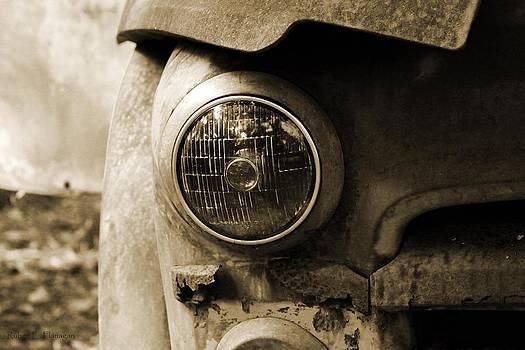 Headlight Black and White by Ruben  Flanagan