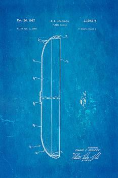 Ian Monk - Headrick Frisbee 2 Patent Art 1967 Blueprint