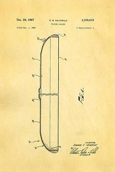 Ian Monk - Headrick Frisbee 2 Patent Art 1967