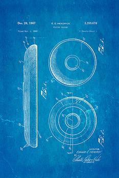Ian Monk - Headrick Frisbee Patent Art 1967 Blueprint