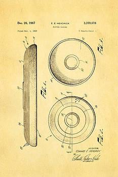 Ian Monk - Headrick Frisbee Patent Art 1967