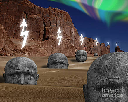 Heads At Red Rock by Keith Dillon